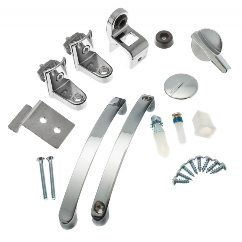 Hadrian Bathroom Stall Hardware: Barrier Free Door Kit
